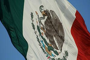 Mexico Flag Sonora Border Region
