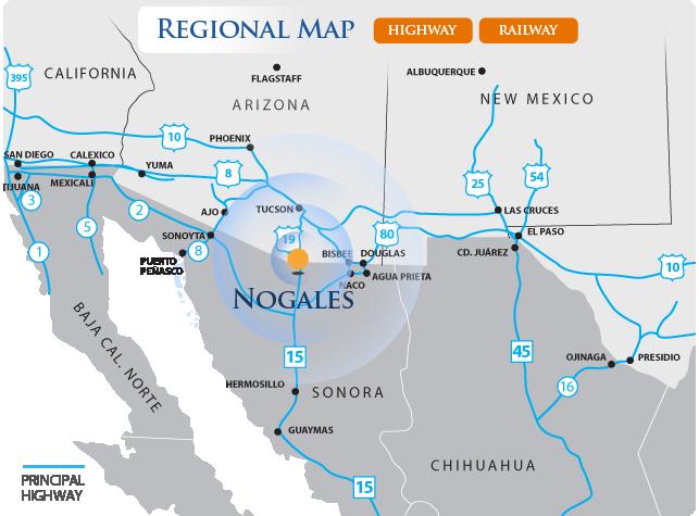 Nogales Regional Map