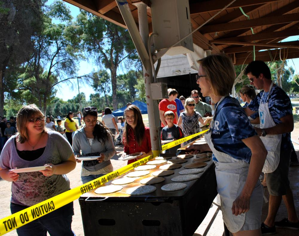 Barbi Reuter Serving Pancakes for PCF