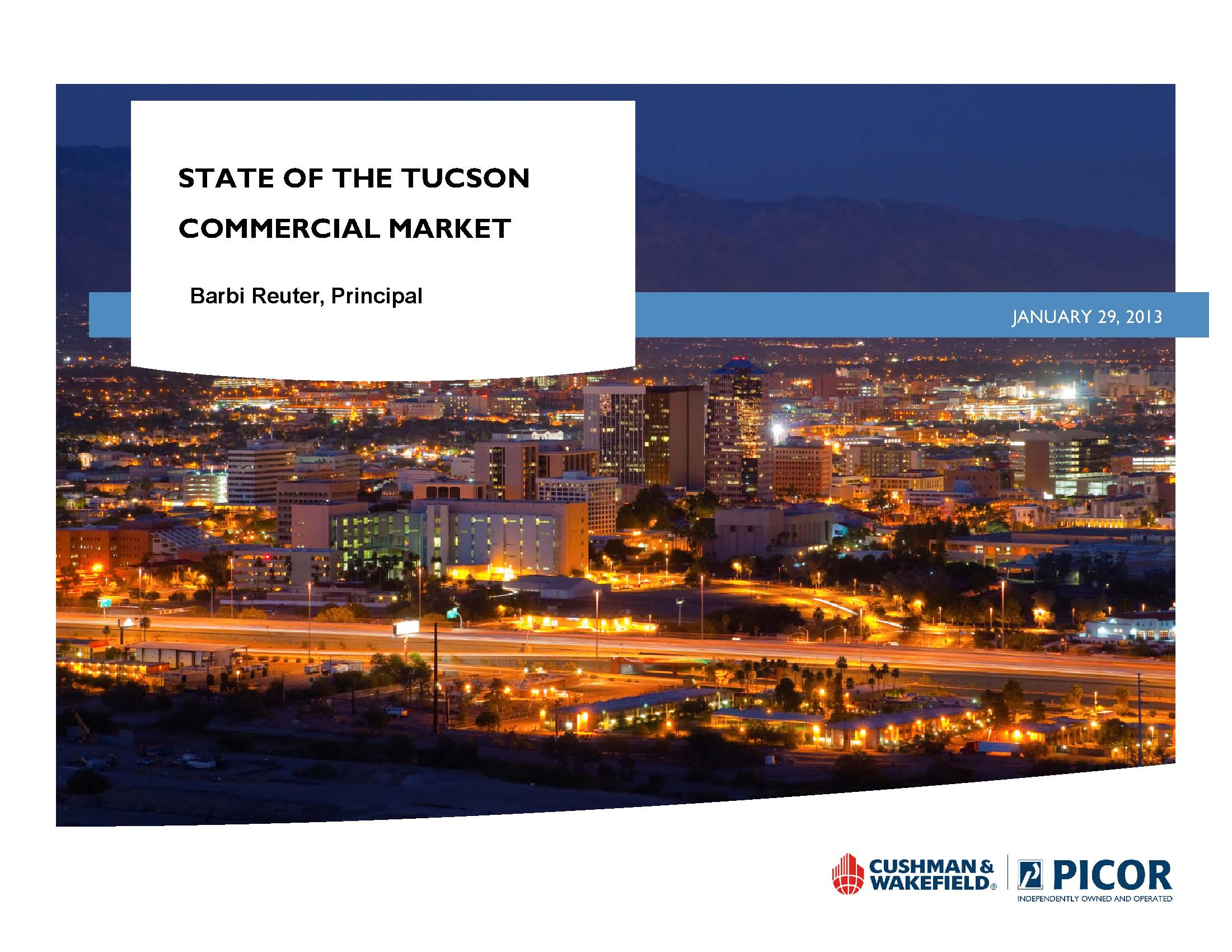 Tucson Commercial Real Estate Forecast 2013