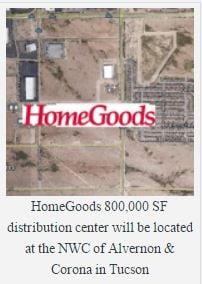 Creative Brokerage Brings Homegoods Tucson Distribution Center Re