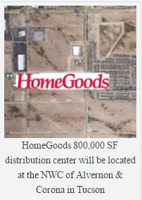 Homegoods tucson distribution site