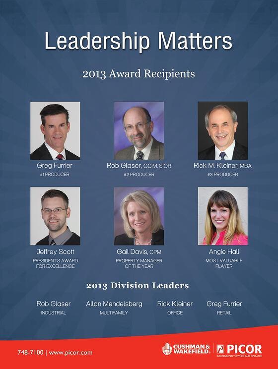PICOR Award Winners 2013